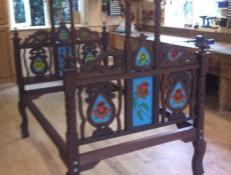 Antiek Ledikant Tempel meubelmakerij Midden-Drenthe