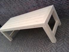 Bloktafel Tempel meubelen Beilen
