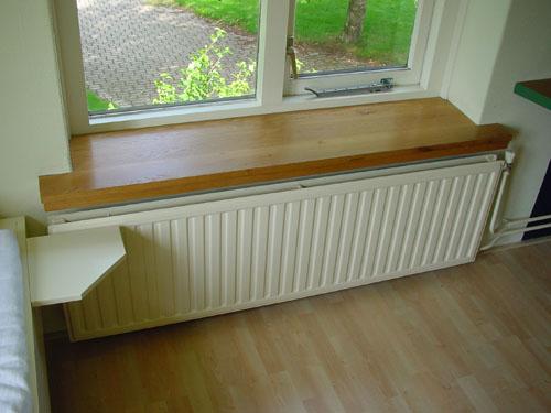 Idee houten bank design : Gemaakt van massief Europees eiken. Een vensterbank met een natuurlijk ...